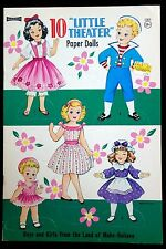 "Un-Cut Paper Doll Book 10 ""Little Theater"" Paper Dolls Land of Make Believe"