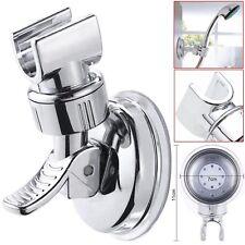 Shower Handset Holder | CHROME Bathroom Wall Mounted Adjustable Suction Bracket