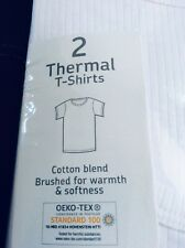 Brand new pack of 2 boys t-shirt style thermal vests, age 14-15 years