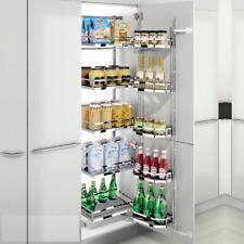 Kitchen Pantry Chefs Larder Storage Unit, Suits 500mm Wide Cabinet, Wire Baskets