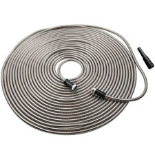 100 Ft Garden Water Hose Pipe Aluminum w/Nozzle Stainless Steel