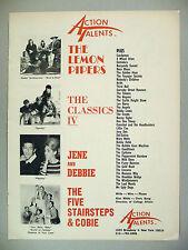 Lemon Pipers / Classics IV / Jene & Debbie / Five Stairsteps PRINT AD - 1968