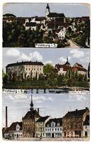Ansichtskarte Frohburg in Sachsen - Schloss mit Rittergut/Ortsansichten - 1916
