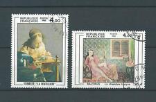 FRANCE TABLEAUX - 1982 YT 2231 et 2245 - TIMBRES OBL. / USED