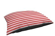 Manual Woodworkers & Weavers Indoor/Outdoor Lg Breed Pet Bed, Bright Stripes Red