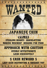 "Japanese Chin Wanted Poster Fridge Dog Magnet Large 3.5"" X 5"""