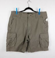 "NWT Hurley Men's Gray Cargo Shorts Sz 40 Inseam 9.5"" NEW WITH TAGS"