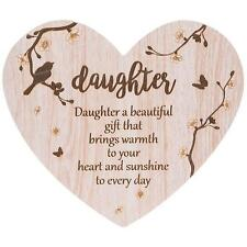 Daughter Gift - Floral Heart plaque with sentiment 272072