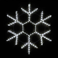 "24"" LED Snowflake Cool White Rope Light Christmas Outdoor Decoration"