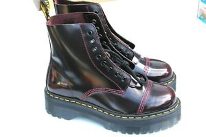 NEW Dr. Martens Sinclair Womens Size 10 uk 8 Cherry Red Burgundy Platform Boots