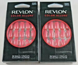 Revlon Color Allure Nails, Medium Length, Passion Punch #91041 NIB Lot of 2