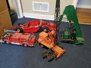 Model Toys Doepke 50s American LaFrance Pumper Fire Truck Crane Heiliner Barber