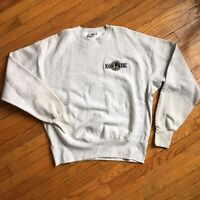 Vintage Con Air Crewneck Sweater Gray Lee XL Made In Usa 90's