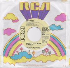 LOU REED  How Do You Think It Feels  rare promo 45 from 1973