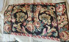 "Antique Wool Needlepoint Renaissance Louis Xv Near Complete Design 15x27"" 27x34"""