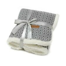 More details for all pet solutions charlie chunky knit design soft warm luxury dog puppy blanket