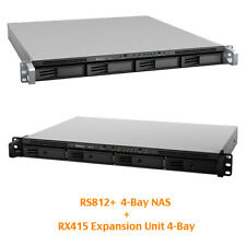 € 1022+IVA 8-Bay SYNOLOGY Bundle RS812+ RackStation + RX415 Expansion eSATA