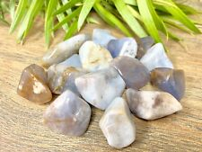 1/2 lb Blue Chalcedony Tumbled Stones Crystal Therapy Gemstone Specimen Reiki