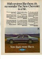 Original 1977 Chevrolet Caprice Magazine Ad - With Reviews Like This...