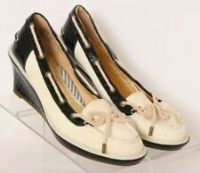 Sperry Top-Sider 9866898 Ivory Wedge Boat Slip On Heel Loafers Women's US 8.5M