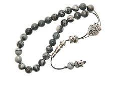 0410 - Beautiful Loose String Greek Komboloi Prayer Beads 8mm Jasper Gemstone