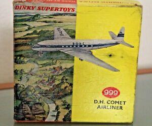 Dinky toys England Schachtel Leere D.H.Comet Airliner Boac Ref 999