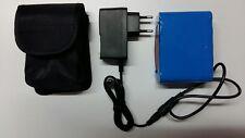 pacco batterie 10 x 18650 litio 8,4v 16800mAh + caricabatterie custodia faro led