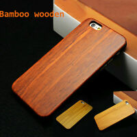 Natural Wood Wooden Bamboo Hard Case Back Cover+PC Bumper For iPhone 6s 7 Plus