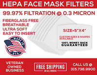 10-PACK Reusable Mask Filters Made in the USA, HEPA H11