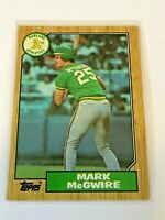 1987 Topps Baseball Base Card - Mark McGwire - Oakland Athletics
