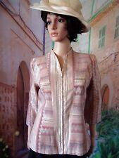 Magnifique veste jacquard Jacqueline RIU rose poudrée.T.36 Neuve