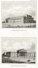 Munich-Delacroix & Glyptothek-Meyer-Acier Pli 1840-1855