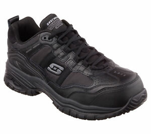 77013 Skechers Men's SOFT STRIDE-GRINNELL Work Shoes Composite Toe Black A5