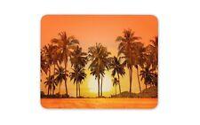 Beautiful Orange Sunset Mouse Mat Pad - Palm Trees Beach Gift PC Computer #8296