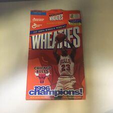 Wheates Box Featuring 1996 NBA Champions Chicago Bulls Opened