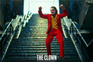 FILIX TOYS 1/12 Joker The Comedian Male Clown W/4pcs Head Carving Figure Model