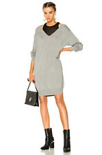 ALEXANDER WANG bi-layer layered tank off shoulder sweater dress gray xs