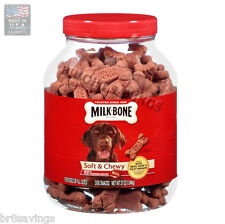 Milk Bone Soft & Chewy Beef & Filet Mignon Recipe Dog Treats 37 oz - 2 Pack
