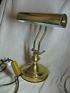VINTAGE  BRASS ADJUSTABLE BANKERS DESK LAMP (FULL WORKING ORDER)