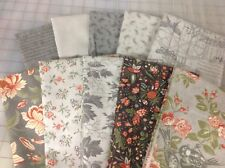 Moda 3 Sisters Quill Fat Quarter Fabric Bundle in Feather Grey