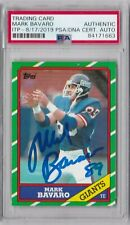 MARK BAVARO  NEW YORK GIANTS PSA/DNA AUTHENTICATED ROOKIE 1986 TOPPS SIGNED CARD