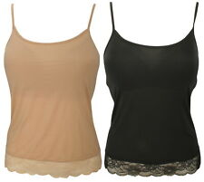 Ex-Store Ladies Hidden Support Camisole with Floral Lace Trim