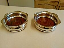 More details for pair of vintage arthur price silver plated champagne bottle coasters (3772)