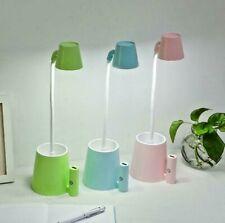 4 en 1 Multi Fonction DEL Bureau Table Lampe Chargeur USB Ventilateur étude porte stylo