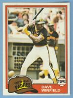 Dave Winfield 1981 Topps #370 Padres Pack Fresh Near Mint Combined Shipping Free