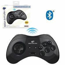 Retro-Bit Sega Saturn Bluetooth Controller 8-Button for Switch, PC/Mac - Black