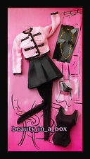 Classy Pink and Black Suit Ensemble Fashion for Full Body Doll Barbie