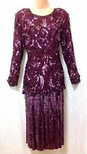 SERENADE (UK 14) Bead & Sequined Cocktail Party Skirt & Top/Special Occasion