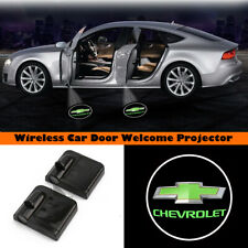 2x Car Door Projector Logo Laser Wireless Ghost Shadow Light for Chevrolet