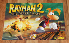 1999 Rayman 2 The Great Escape / Donkey Kong 64 Nintendo N64 Poster 56x40cm...